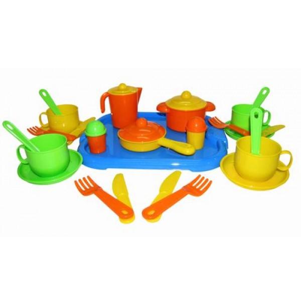 """Набор детской посуды """"Хозяюшка"""" с подносом на 4 персоны. 4039"""