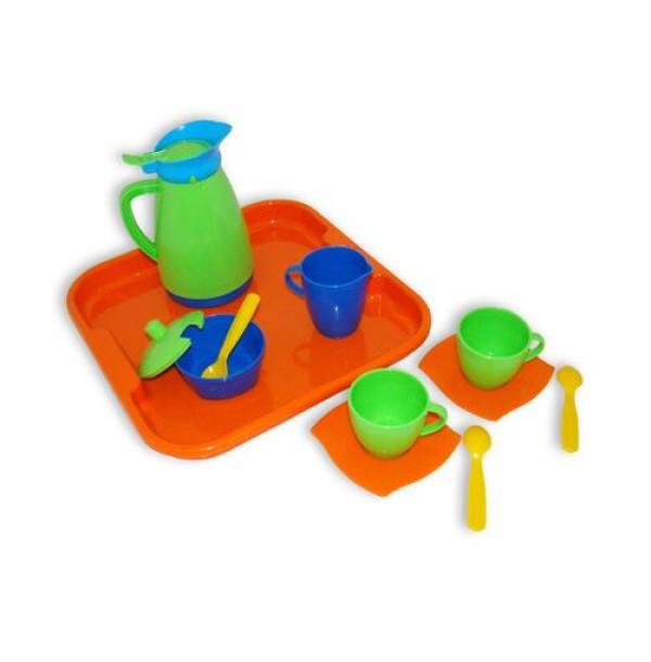 """Набор детской посуды """"Алиса"""" с подносом на 2 персоны. 40572"""