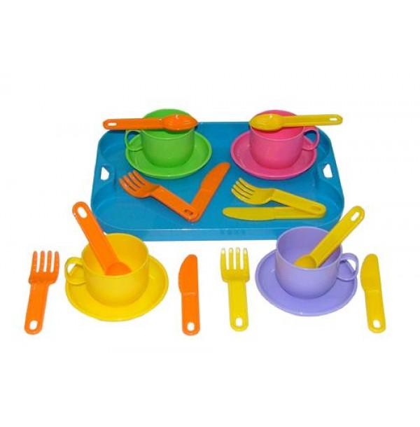 """Набор детской посуды """"Минутка"""" с подносом на 4 персоны. 9530"""