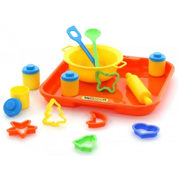 Набор детской посуды для выпечки №1 с подносом. 40749