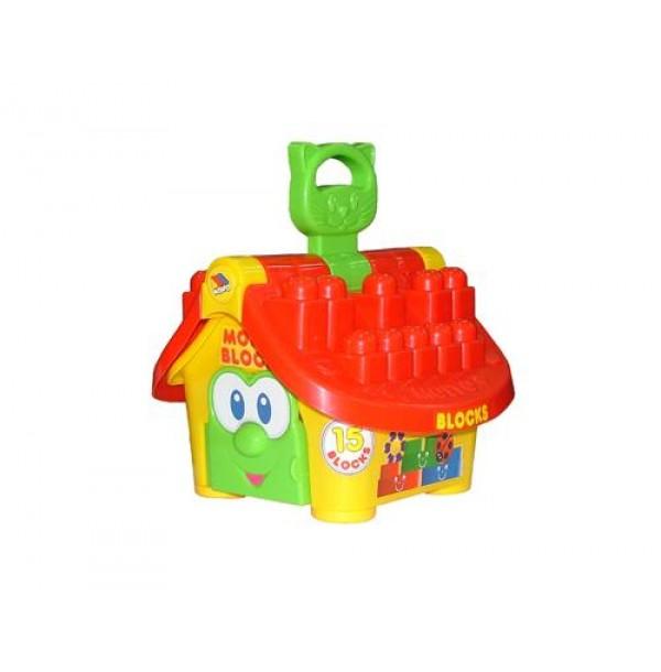 """Логический домик """"Маленький строитель"""" (в сеточке). 9646"""