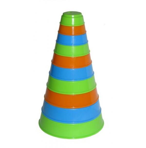 Занимательная пирамидка (10 элем.), h=175 мм/ 35042