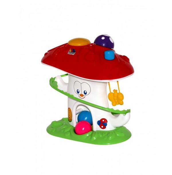 """Развивающая игрушка """"Забавный гриб"""" (в сеточке). 47892"""