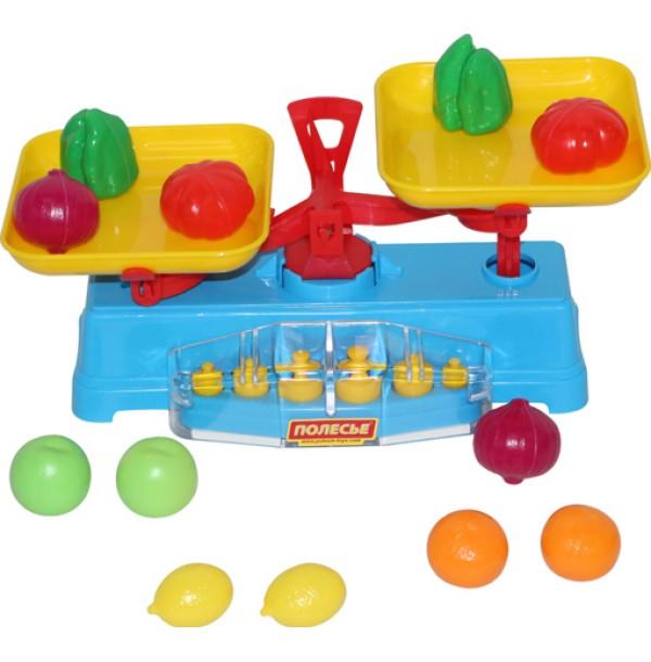 """Игровой набор """"Весы"""" + Набор продуктов (12 элементов) (в сеточке). 53787"""