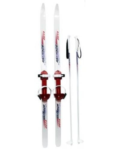 Лыжи подростковые Ski Race с палками 120/95 15334