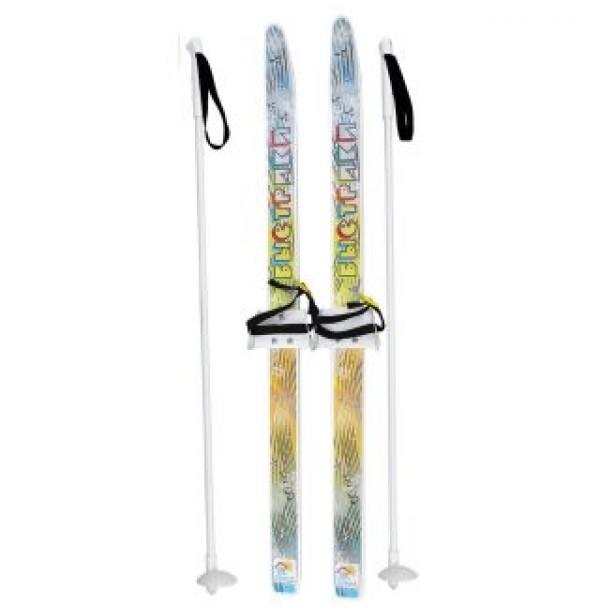 Лыжи детские Быстрики с палками 90 см 15336