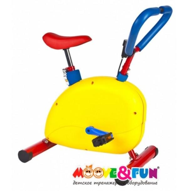 Тренажер детский механический Велотренажер с компьютером Moove&Fun SH-02C