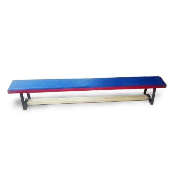 Скамейка гимнастическая 2,5 м (мет. регул. ножки, мягкая). 7890