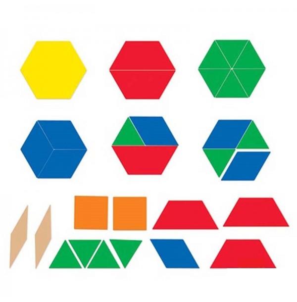 Блоки геометрические магнитные демонстрационные. LER 9863
