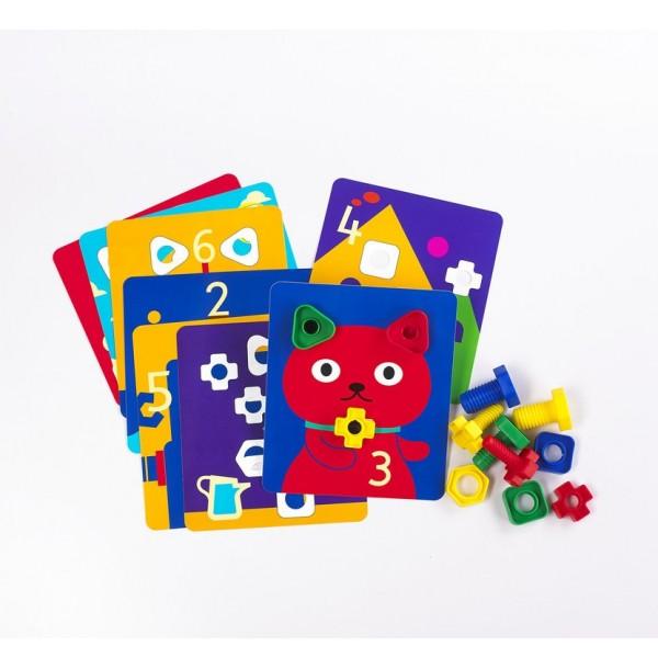 """Карточки для набора """"Гайки и болтики"""". 50169"""