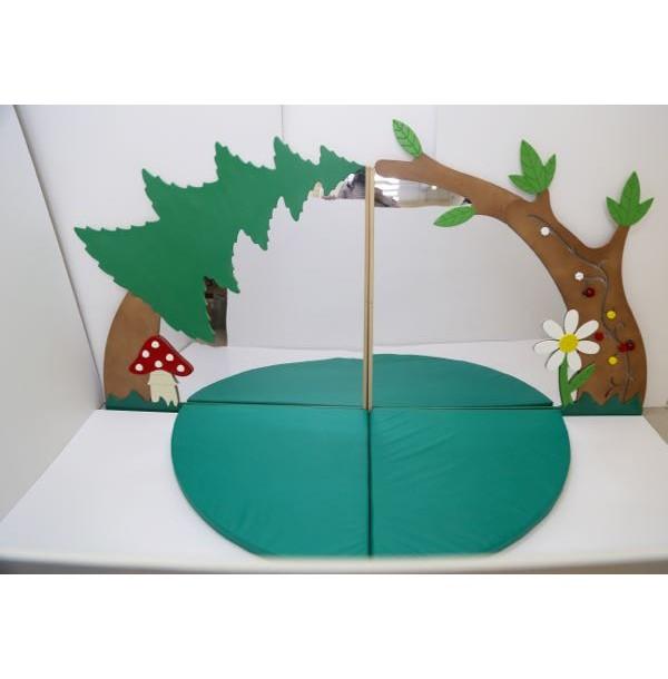 Декоративно-развивающая панель «Зеркальная стена малая». RP008