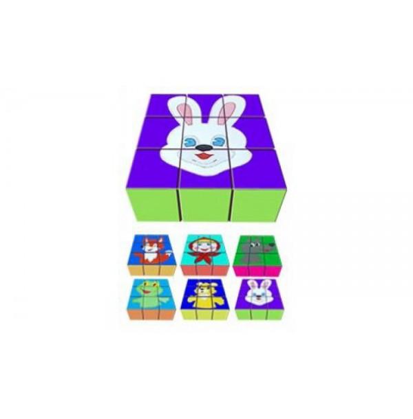 Детские игровые кубики с аппликацией. Т35