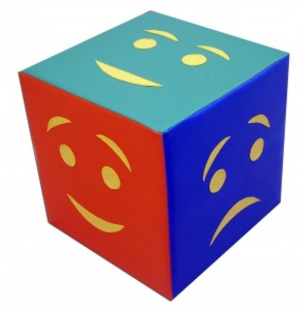 Детский дидактический кубик «Эмоции» простой. Т38