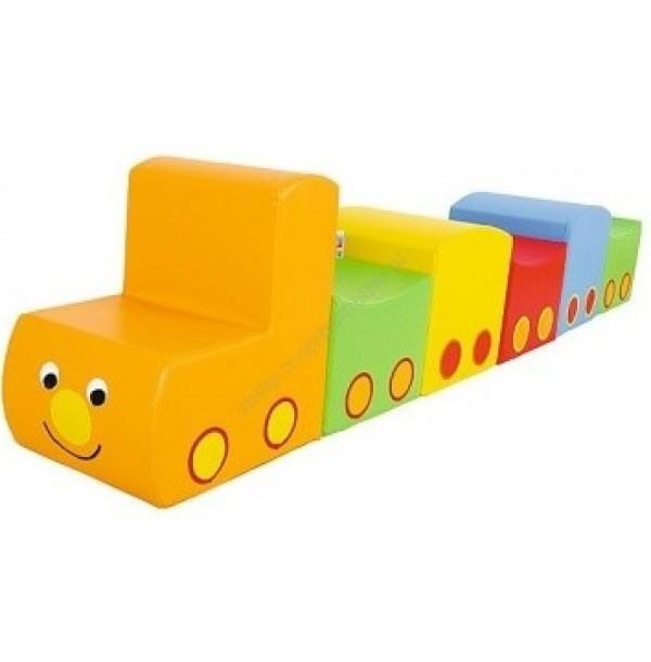 Детский игровой «Поезд» (6 элементов). Т9