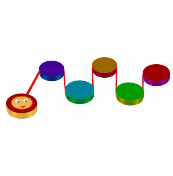 Детская игровая дорожка «Змейка-шагайка». Т79