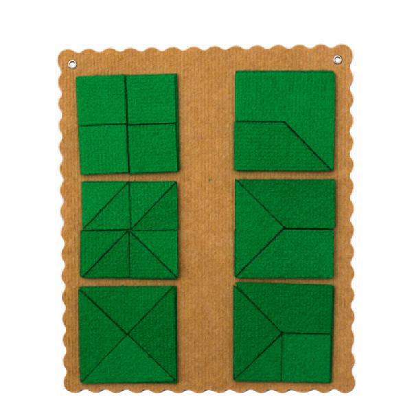 Прозрачный квадрат Ларчик (ковролин, зеленый цвет). ПРИ-172