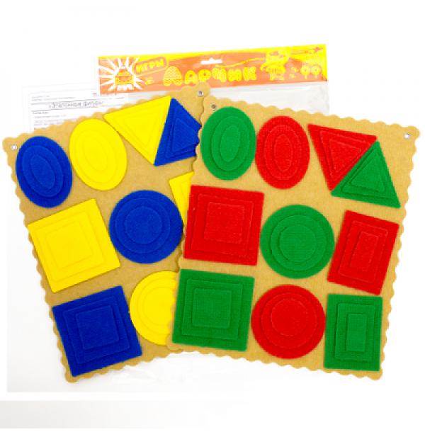 Эталонные фигуры Ларчик (ковролин, 4 цвета). ПРИ-140