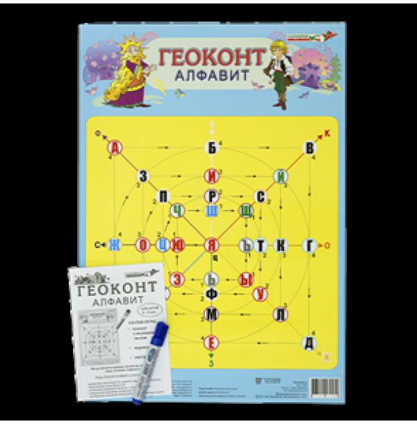 "Плакат ""Геоконт. Алфавит"". ЧТЕ-033"