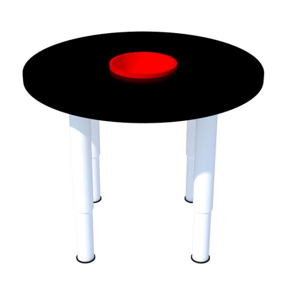 Стол «Круглый» для рисования мелом. Т-041